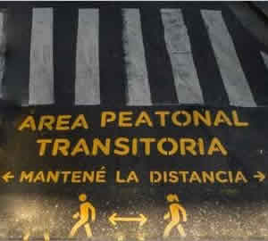 area peatonal transitoria